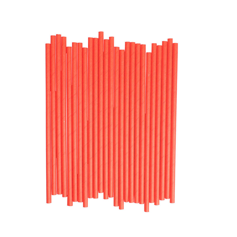 Plain Red Paper Straws  Paper Straws Hello Party Essentials - Hello Party