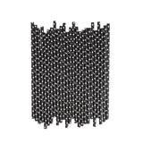 Black With White Spots Paper Straws  - Hello Party - All you need to make your party perfect!