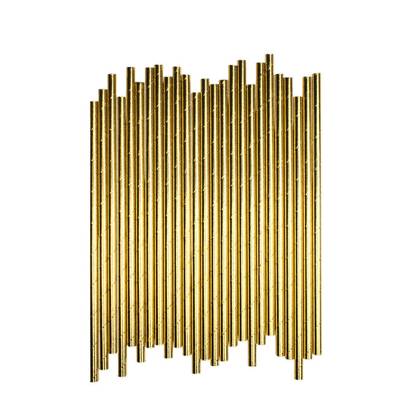 Plain Gold Paper Straws