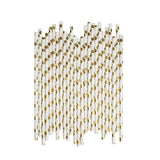 Big Gold Spots Paper Straws  - Hello Party - All you need to make your party perfect!