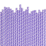 Lavender With White Spots Paper Straws