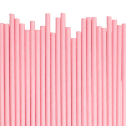 Plain Light Pink Paper Straws  Paper Straws Hello Party Essentials - Hello Party