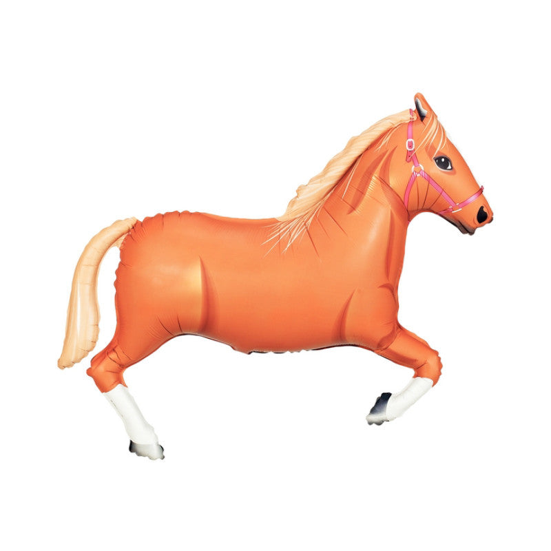"Giant Brown Horse Foil Balloon (43"")  Balloons Hello Party - All you need to make your party perfect!  - Hello Party"