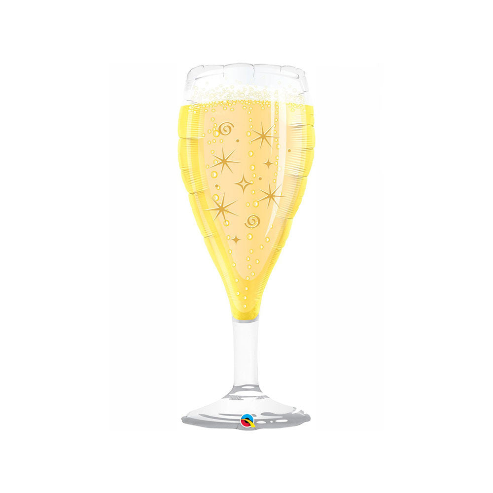 "Champagne Glass 39"" Supershape Balloon"