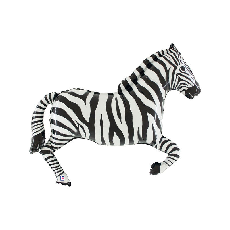 "Giant Zebra Foil Balloon (43"")  Balloons Hello Party - All you need to make your party perfect!  - Hello Party"