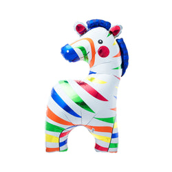 "Colourful Zebra 35"" Supershape Foil Balloon"