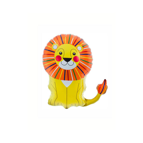 "Little Lion 14"" Air Fill Foil Balloon & Stick"