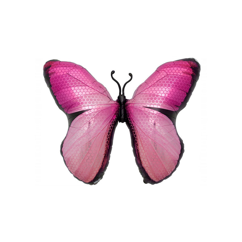 "Big Pink Butterfly Foil Balloon (31"")  Balloons Hello Party - All you need to make your party perfect! - Hello Party"