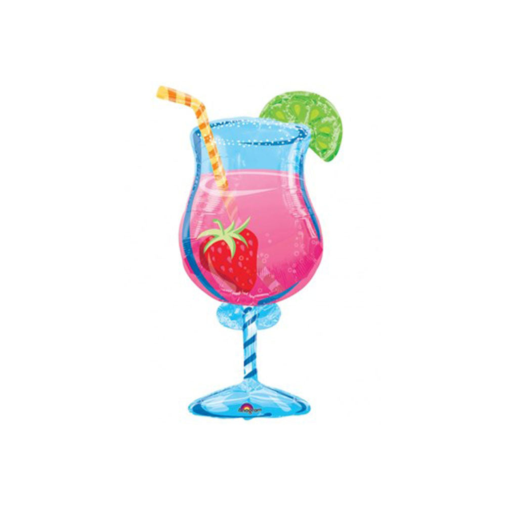 "Summer Cocktail 35"" Supershape Foil Balloon"