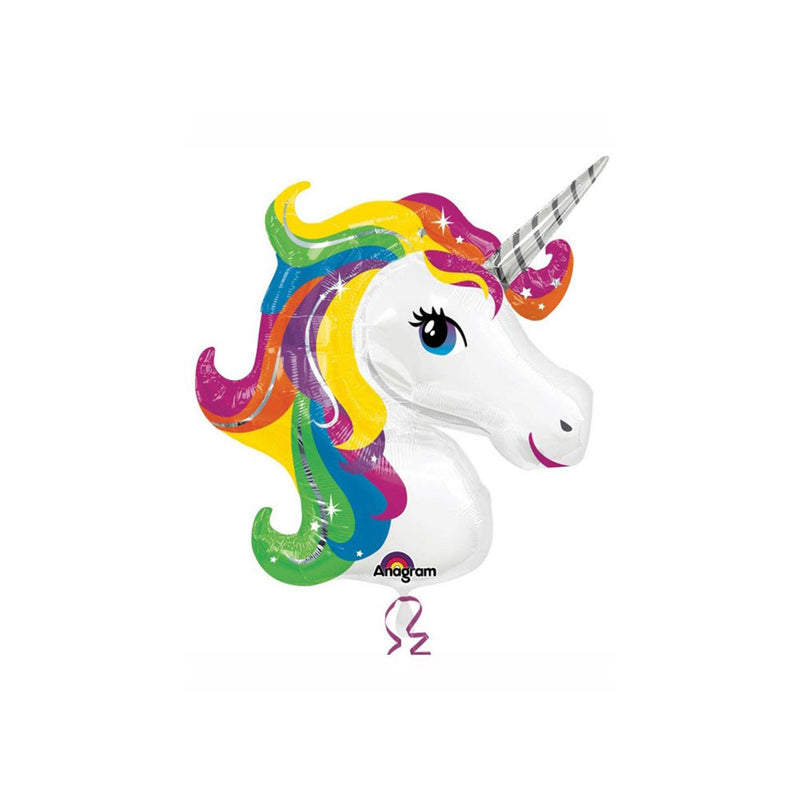 "Huge Rainbow Unicorn Foil Balloon (33"")  Balloons Hello Party - All you need to make your party perfect! - Hello Party"