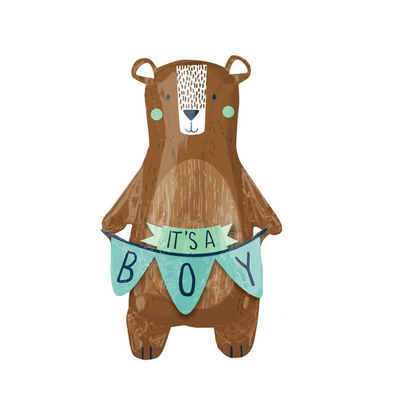 It's a Boy Bear Foil Balloon  Supershape Balloons Anagram - Hello Party