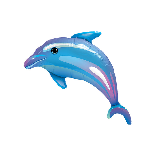 Delightful Dolphin Foil Balloon  Supershape Balloons qualatex - Hello Party