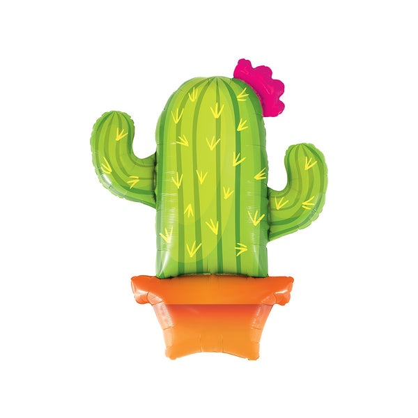 Potted Cactus Shaped Foil Party Balloon