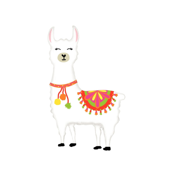 "Bright Llarge Llama Foil Balloon (45"")  Balloons Betallic - Hello Party"