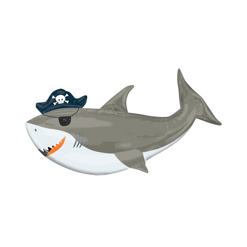Pirate Shark Foil Balloon  Balloons Qualatex - Hello Party