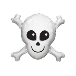 Happy Skull Crossbones Foil Balloon  Balloons Qualatex - Hello Party