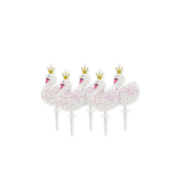 Stylish Swan Birthday Candles