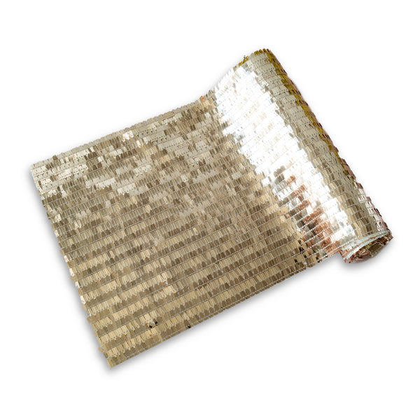 Gold Tassel Sequin Table Runner