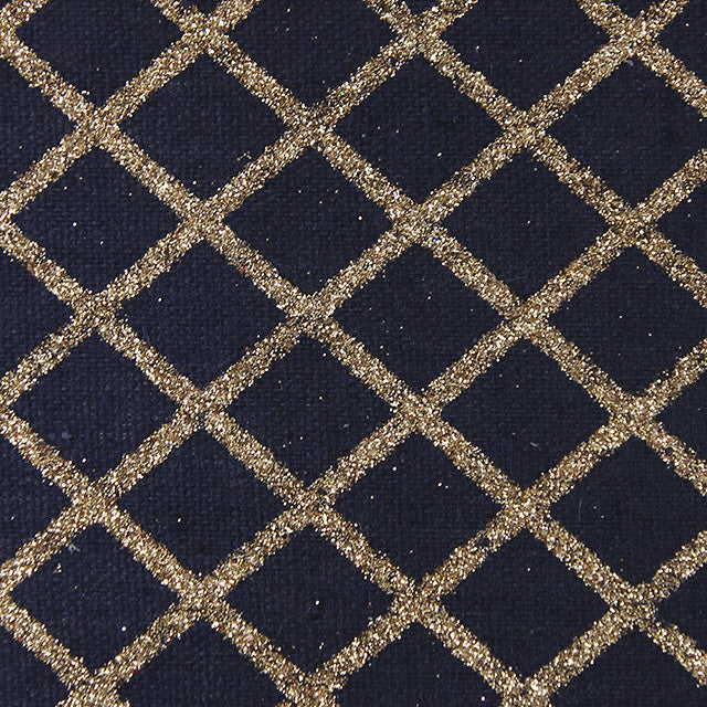 Navy Gold Diamond Glitter Table Runner