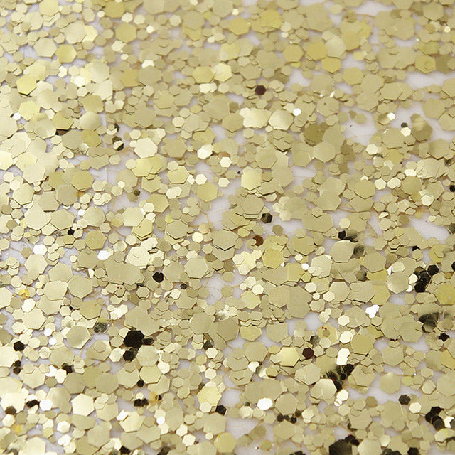 Gold Glitter Table Runner Modern Stylish Tableware detail
