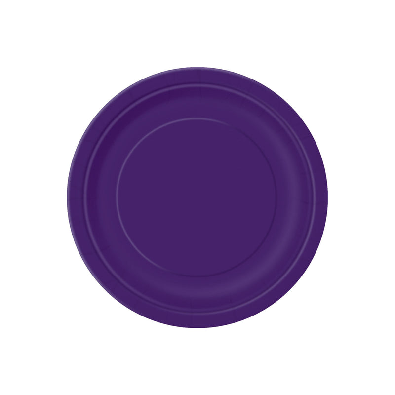 Small Deep Purple Round Paper Plates  Party Plates Hello Party - All you need to make your party perfect!  - Hello Party