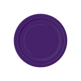 Small Deep Purple Round Paper Plates