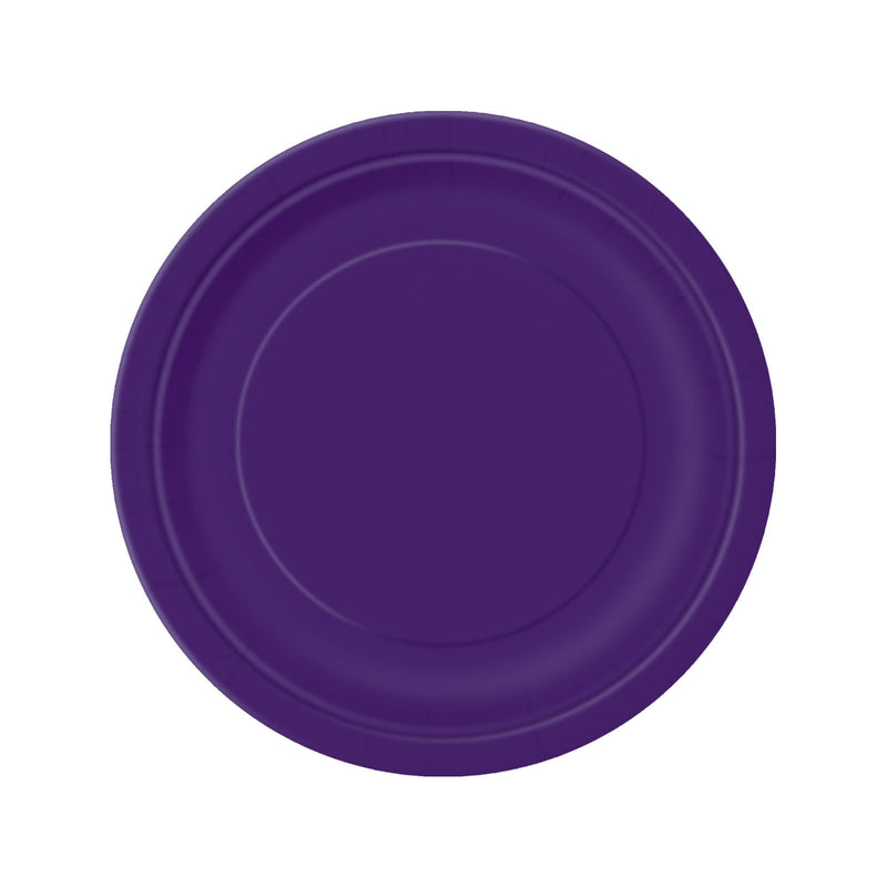 Deep Purple Round Paper Plates  Party Plates Hello Party - All you need to make your party perfect!  - Hello Party
