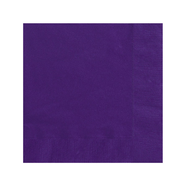 Solid Deep Purple Napkins  Napkins Hello Party - All you need to make your party perfect!  - Hello Party