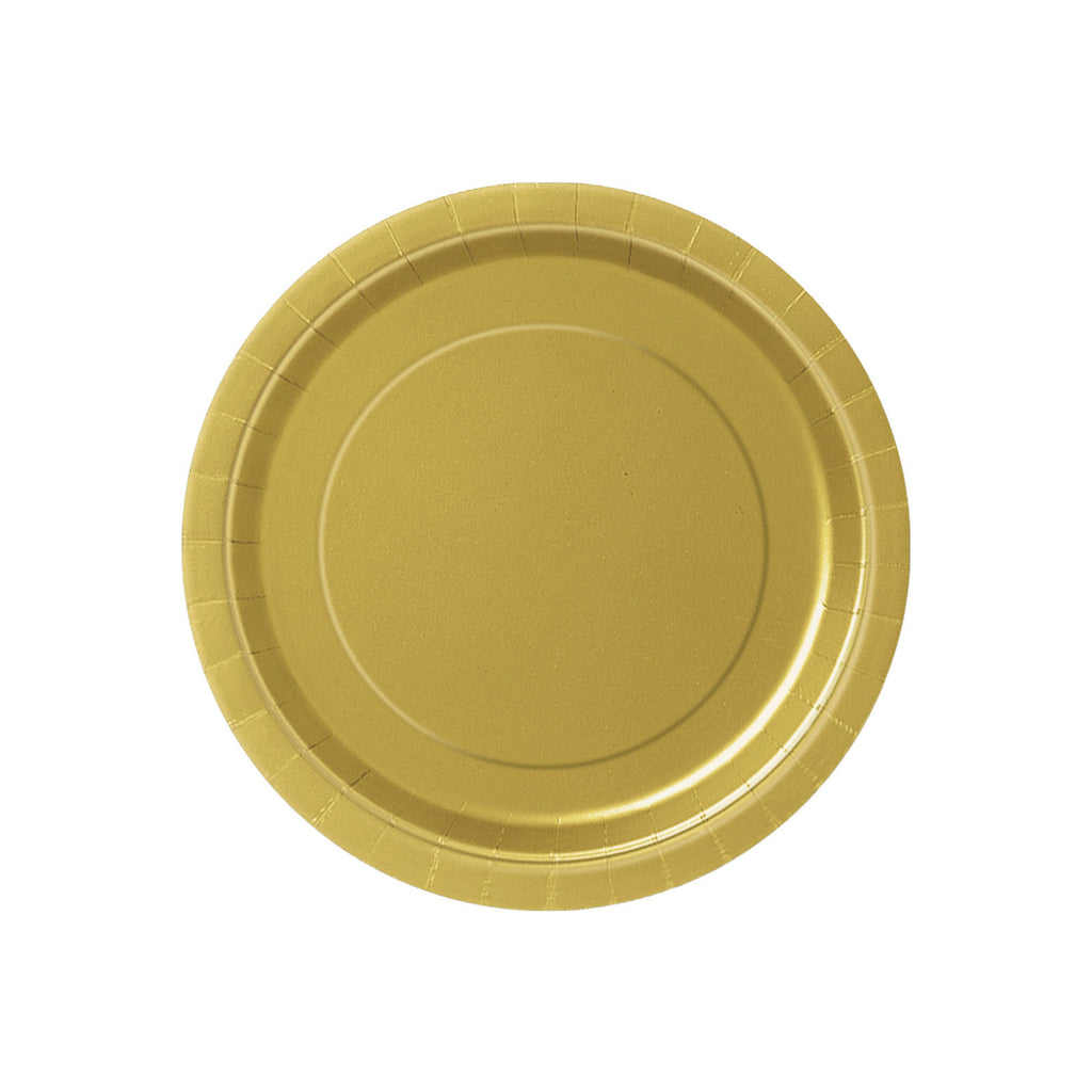 Small Gold Round Paper Plates
