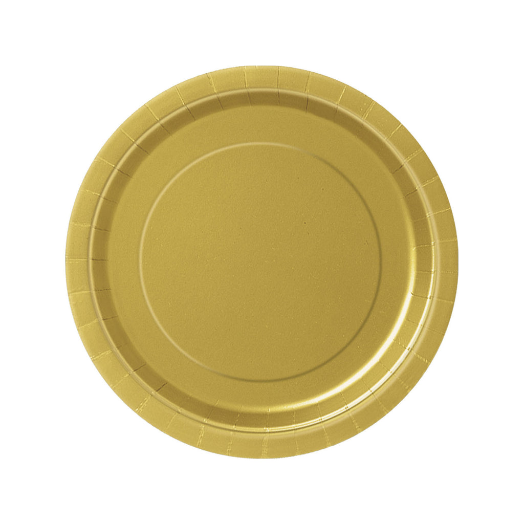 Gold Round Paper Plates