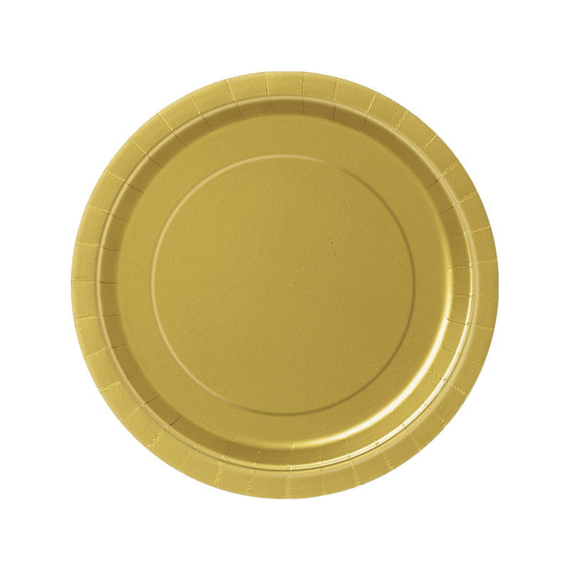 Gold Round Paper Plates  Party Plates Hello Party - All you need to make your party perfect!  - Hello Party