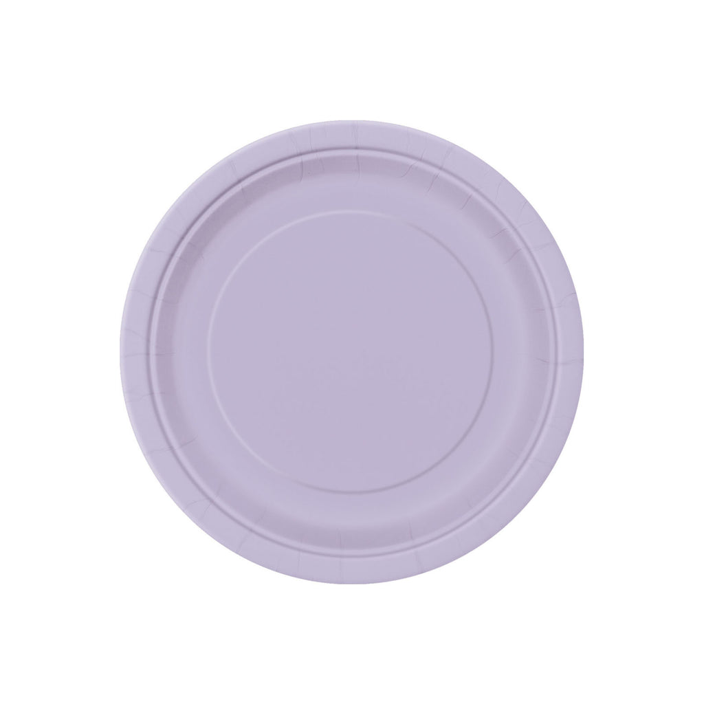 Small Lavender Round Paper Plates