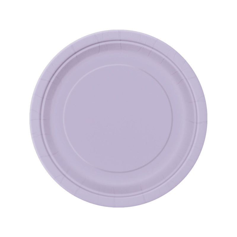 Lavender Round Paper Plates