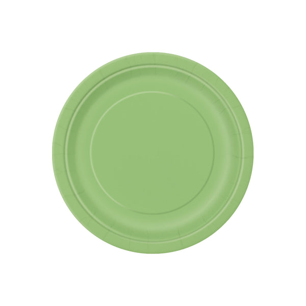 Small Lime Green Round Paper Plates  Party Plates Hello Party - All you need to make your party perfect!  - Hello Party
