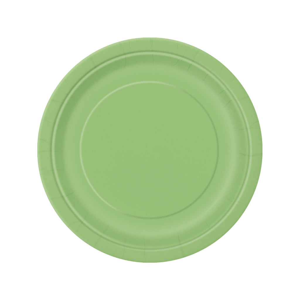 Lime Green Round Paper Plates