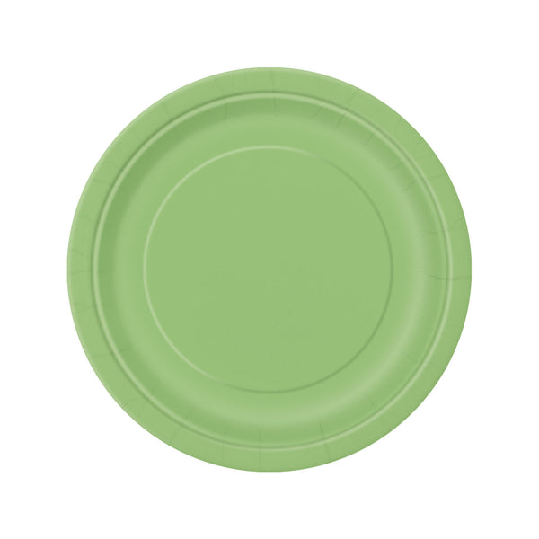 Lime Green Round Paper Plates  Party Plates Hello Party - All you need to make your party perfect!  - Hello Party