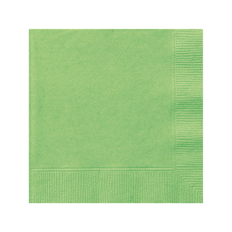Solid Lime Green Napkins
