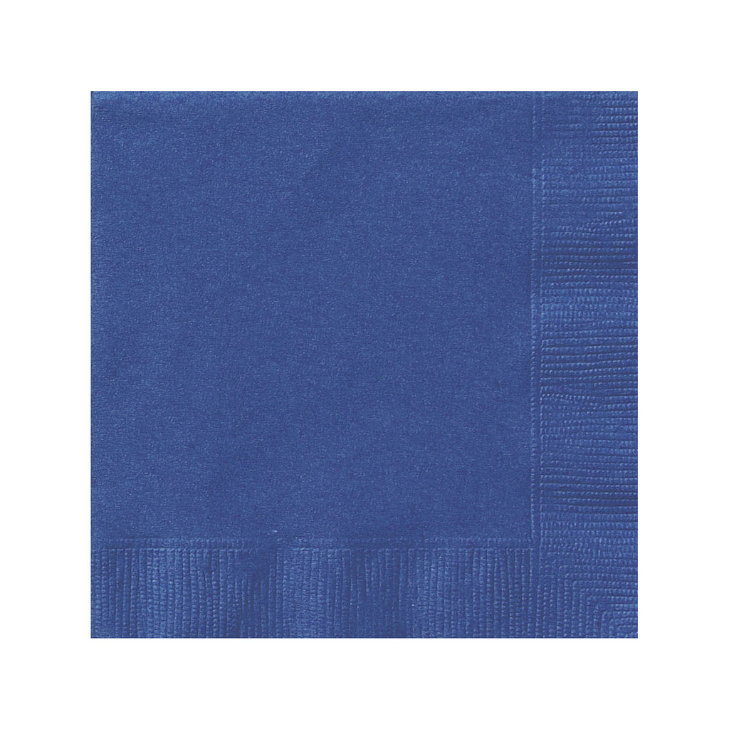 Solid Navy Blue Napkins