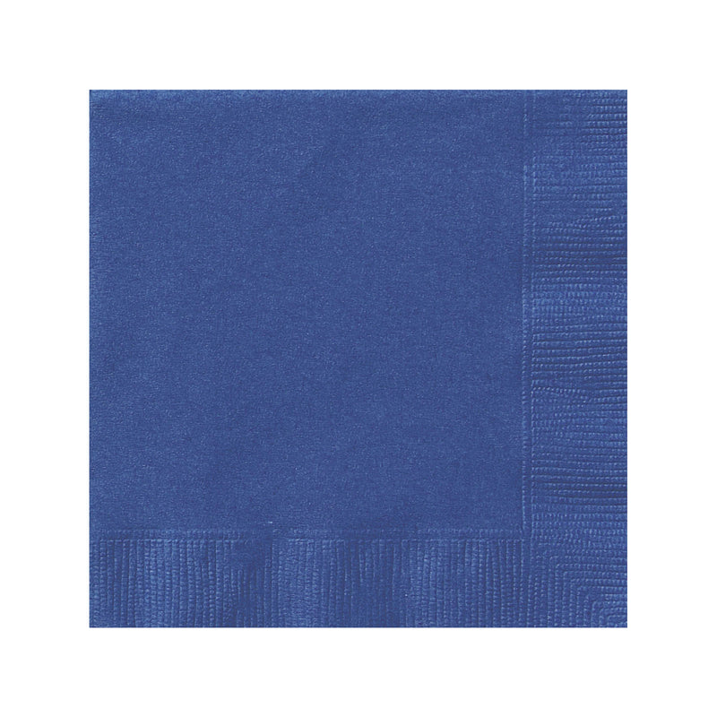 Solid Navy Blue Napkins  Napkins Hello Party - All you need to make your party perfect!  - Hello Party