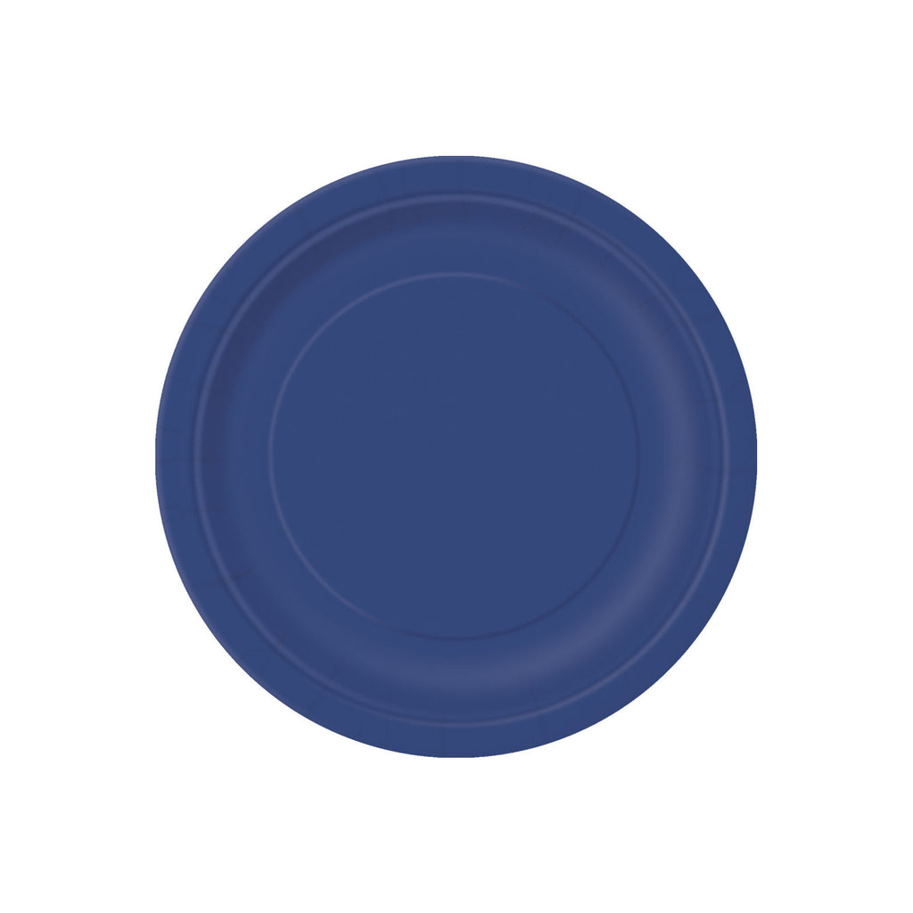 Small Navy Blue Round Paper Plates