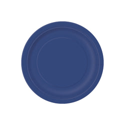 Small Navy Blue Round Paper Plates  Party Plates Hello Party - All you need to make your party perfect!  - Hello Party