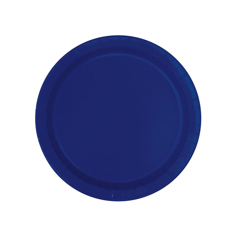 Navy Blue Round Paper Plates  Party Plates Hello Party - All you need to make your party perfect!  - Hello Party