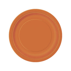 Orange Round Paper Plates  Party Plates Hello Party - All you need to make your party perfect!  - Hello Party