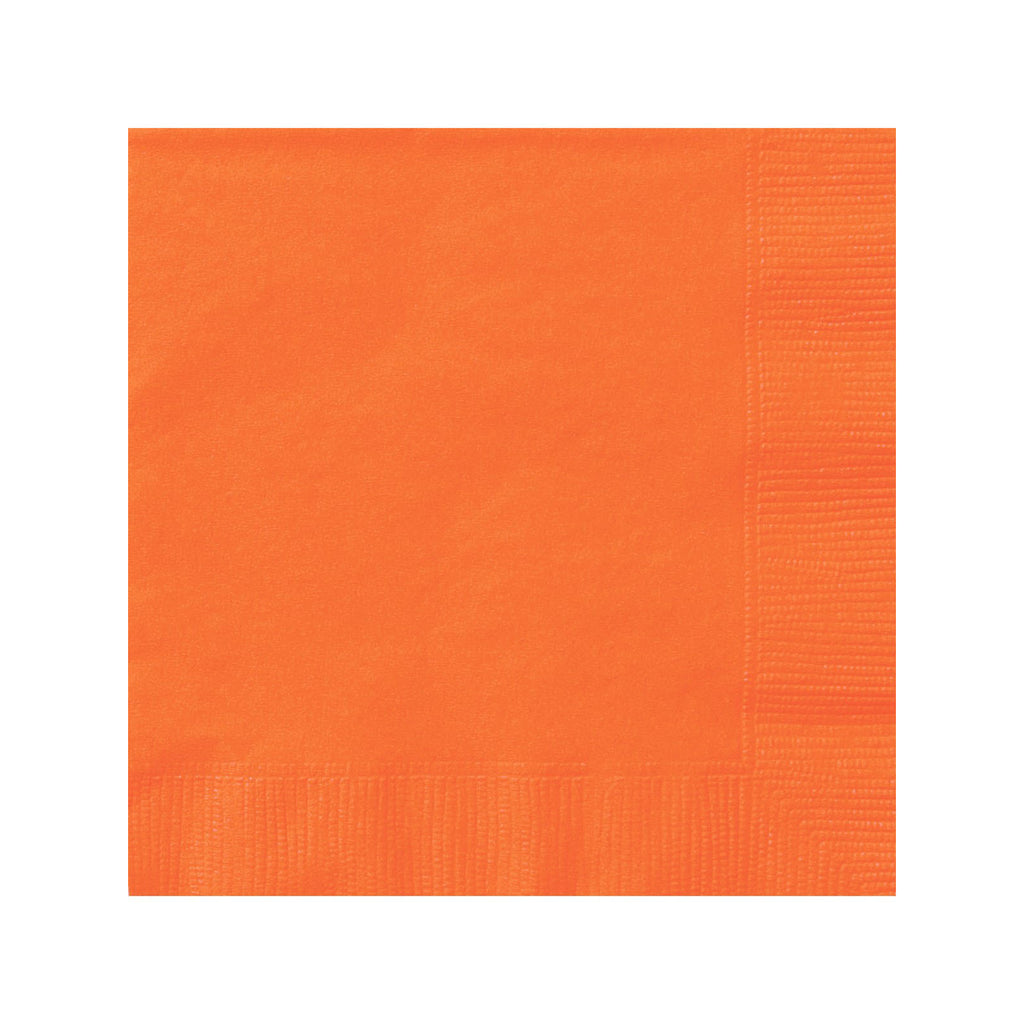 Solid Orange Napkins