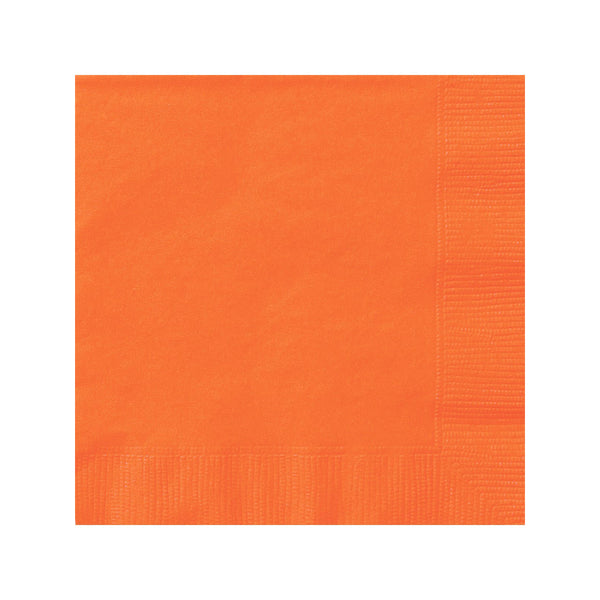 Solid Orange Napkins  Napkins Hello Party - All you need to make your party perfect!  - Hello Party