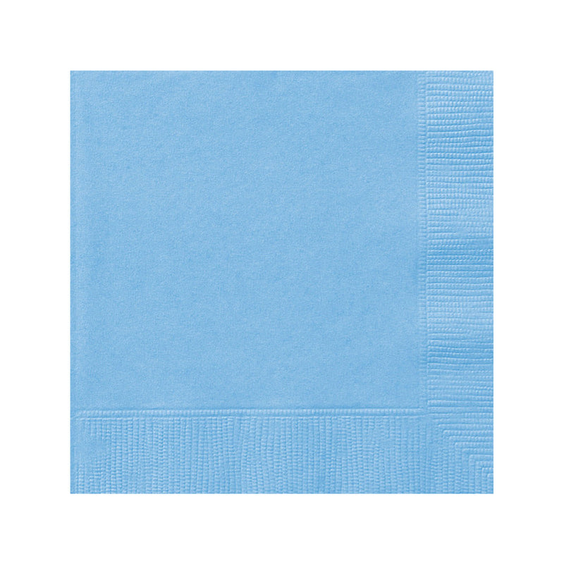 Solid Pastel Blue Napkins  Napkins Hello Party - All you need to make your party perfect!  - Hello Party