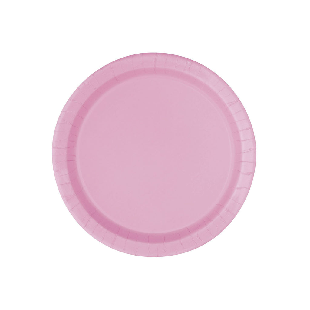 Small Pastel Pink Round Paper Plates