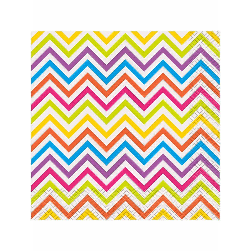 Rainbow Chevron Napkins