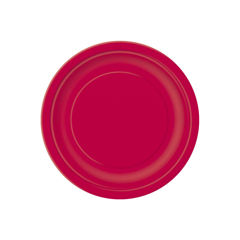 Small Ruby Red Round Paper Plates  Party Plates Hello Party - All you need to make your party perfect!  - Hello Party