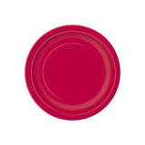 Small Ruby Red Round Paper Plates